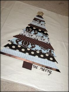 Christmas Tree Scrap Pillow
