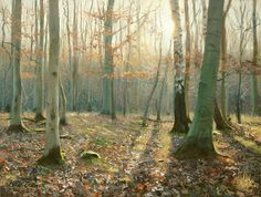 """https://www.facebook.com/MiaFeigelson """"Long winter sunlight"""" (2014 [Sold] By Peter Barker, from Banbury, Oxfordrshire, England (current location, South Luffenham, England) - oil painting; 10 x 14 in -  http://www.peterbarkerpaintings.co.uk/ https://www.facebook.com/PeterBarkerARSMA"""