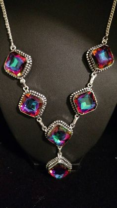 Check out this item in my Etsy shop https://www.etsy.com/listing/468072541/gorgeous-mystic-topaz-necklace-and