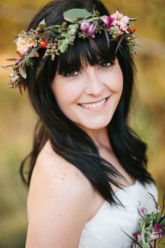 floral crown // photo by Alyssia B Photography // http://ruffledblog.com/bohemian-fall-bridal-session