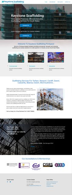 Portfolio Web Design, Company News, Scaffolding, Industrial Office, Cardiff, South Wales, Newport, Commercial, Website