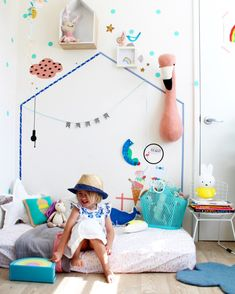 Perfekt Kinderzimmer Mädchen Spielecke Wandgestaltung Flamingo Kopf #bedroom