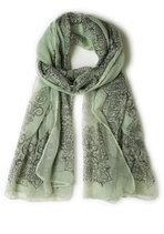 Through the Garden Great Scarf in Sage | Mod Retro Vintage Scarves | ModCloth.com