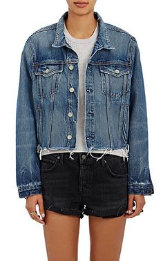 We Adore: The Cara Crop Trucker Jacket from GRLFRND at Barneys New York