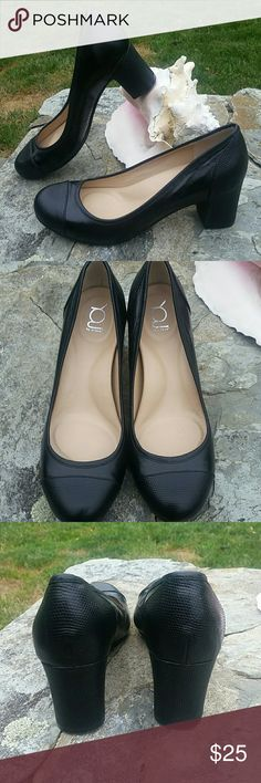 YOU by CROCS Excellent condition probably the most comfortable high heel you'll ever wear like new black leather no scratches You by Crocs Shoes Heels