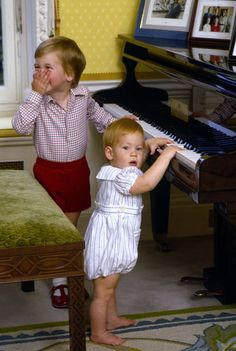 Pin for Later: How Will and Kate Are Keeping Royal Parenting Traditions Alive Portraits of Prince William and Prince Harry The princes were captured playing in their Kensington Palace home in an October 1985 photo shoot.