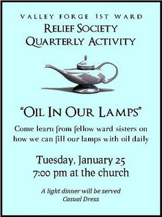 """Oil in our Lamps"" RS Activity"
