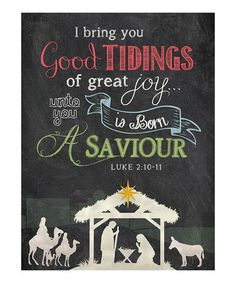 Love this 'Good Tidings' Chalkboard Wall Art on #zulily! #zulilyfinds