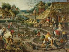 Pieter Brueghel the Younger, 'Spring', oil on panel, 60.5 x 75.8cm, 1632, Society of Antiquaries of London (Kelmscott Manor).
