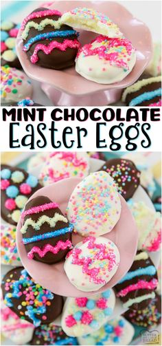 Chocolate Mint Easter Eggs recipe with just a handful of ingredients! Homemade York Peppermint Patties but BETTER, in the shape of darling Easter eggs. Melt Chocolate In Microwave, Chocolate Coating, Chocolate Dipped, Mint Chocolate, Melting Chocolate, Cake Chocolate, Easter Candy, Easter Treats, Easter Food