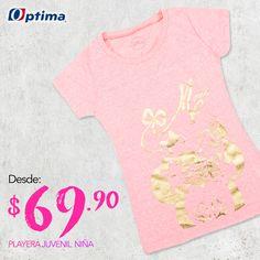 Las mejores prendas para resaltar su estilo. #Optima #NiñaOptima #Promociones