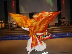 .Prophetic worship dance with banners..