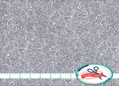 GRAY Fabric by the Yard Fat Quarter GRAY & WHITE by FabricBrat