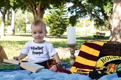 - before we brought out the cake! Birthday Cale, Twin First Birthday, 1st Birthday Photos, Birthday Ideas, Harry Potter Cake, Harry Potter Outfits, Harry Potter Birthday, 1 Year Pictures, Baby Pictures