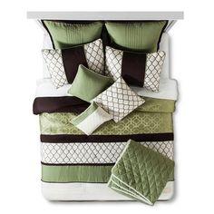 Darcey Comforter Set 10 piece - Green : Target