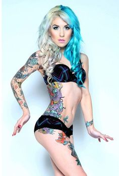 40 Insanely Gorgeous Blue Tattoos in Trend