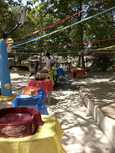 Beyblade Birthday party- Tournament Arena set up