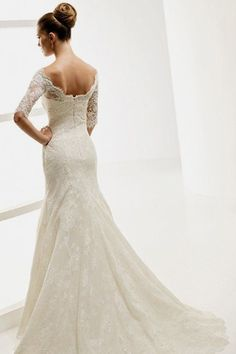 Lace mermaid off the shoulder dress - Love!