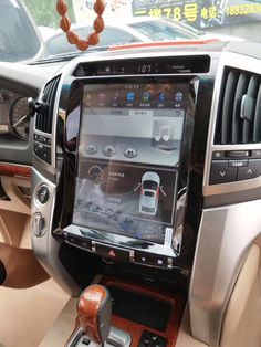 Tesla style vertical screen car dvd player for Toyota Land Cruiser Toyota Land Cruiser 100, Land Cruiser 200, Android Radio, Lexus Gx470, Car Hacks, Best Luxury Cars, New Trucks, Car Videos, Toyota Camry