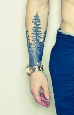 Men's Tree Wrist Tattoo