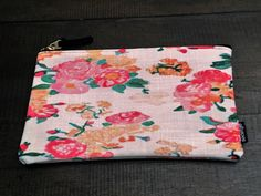 Vintage Rose Carry All Pouch - Medium by MoonDaughterArt on Etsy