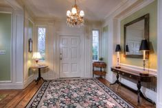 A warm and welcoming entry way in Morristown NJ #RealEstateMorristownNJ