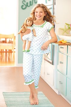 Maryellen's Pajamas & Flower Print Pajamas for Girls