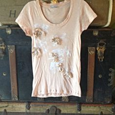 Check out J.Crew Flowered/Sequin Tee XS on Threadflip!