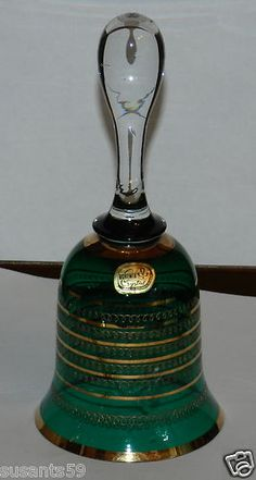 Czech Handpainted Art Glass Bell. $14.99 +Shipping!