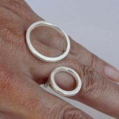 Contemporary ring 2O in sterling silver by andreasschiffler.