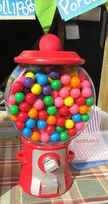 Thrifty Faux Bubble Gum Machine