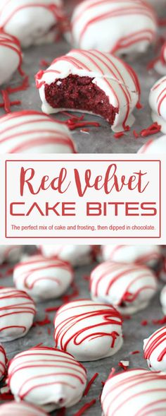 Red Velvet Cake Bites that very delicious. Please find detail and step to make t… - Red Velvet Cake Cake Ball Recipes, Frosting Recipes, Cookie Recipes, Dessert Recipes, Dessert Ideas, Valentine Desserts, Christmas Desserts, Cake Mix Ingredients, Cake Bites