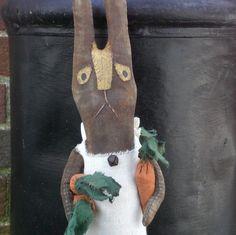 Gertrude A Primitive Folk Art Spring And Easter Make-Do Shelf Sitter Doll by scaredycatprimitives on Etsy https://www.etsy.com/listing/48782922/gertrude-a-primitive-folk-art-spring-and