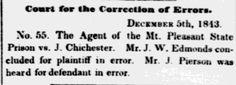 1843.12.5.  J. Chichester Vs. Mt. Pleasant State Prison