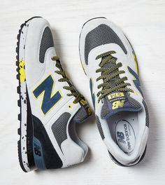 Grey New Balance 574 Sneaker. Show us your #AEOSTYLE on Instagram or Twitter for a chance to be featured on AE.com.