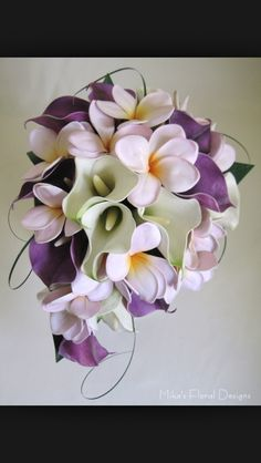 Purple lily bouquet