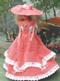 Crochet robe Fashion poupée Barbie modèle par JudysDollPatterns