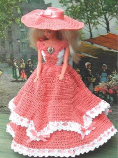 Crochet robe Fashion poupée Barbie modèle par JudysDollPatterns