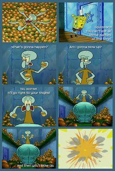 spongebob funny Spongebob Tumblr, Funny Spongebob Memes, Cartoon Memes, Funny Memes, Hilarious, Best Cartoons Ever, Cool Cartoons, Zack E Cody, Pineapple Under The Sea