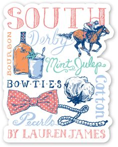 ANY STICKER FROM HERE. South Sticker from Lauren James Co.