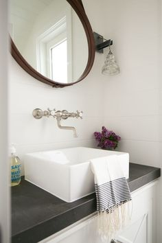 bathroom vanity basin tapware mirror