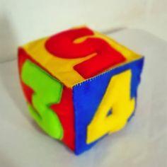 Dado com número para incentivar matemática