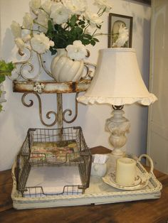 Cheryl's Fascinatingfinds.   Love the alabaster lamp and shade