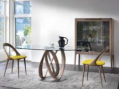 Porada Infinity Round Dining Table With Glass Top - Dining Tables - Porada