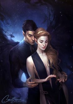 Seriously can't get over this stunning ACOMAF art by the incredible Charlie Bowater! [The Court of Dreams by Charlie-Bowater] Feyre rhysand fan art A Court Of Wings And Ruin, A Court Of Mist And Fury, Fanart, Book Characters, Fantasy Characters, Charlie Bowater, Feyre And Rhysand, Sarah J Maas Books, Ange Demon