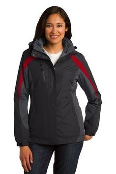 Port Authority Ladies 3in1 JacketM BlackMagnet GreySignal Red L321 * Click for Special Deals  #WinterOutfits