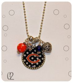 Chicago+Bears+Bears+Football+Necklace+Beads+by+ChickTimesTwo,+$20.00