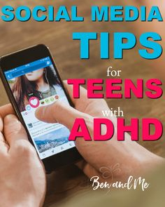 Here are a few social media tips and methods for parents to share with their teens with ADHD to make the most out of social media. Parenting Articles, Parenting Teens, Parenting Hacks, Parenting Plan, Adhd Strategies, Social Anxiety Disorder, Trouble, Adhd Kids, Parent Resources