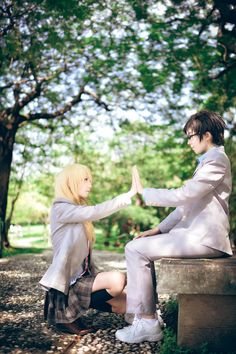 Cosplay - Kaori and Kousei YOU CAN'T DO THIS TO MEEE. I'M CRYING. NO. YOU'RE NOT ALLOWED. I'M NOT EMOTIONALLY STABLE YET. I JUST FINISHED SEASON 1. JUST NO. T.T