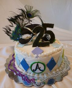 Mineeeeee! 25th birthday masquerade cake